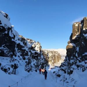 アイスランド・レイキャビック 世界遺産シンクヴェトリル国立公園
