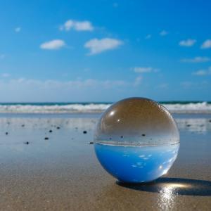 レンズボールで遊んでみた/福岡県福津市の海辺にて