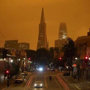 クリーン•エアーのサンフランシスコが大気汚染で 病んでる毎日