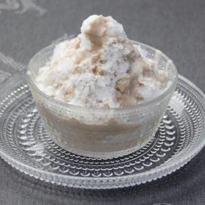 モンブランシロップのかき氷