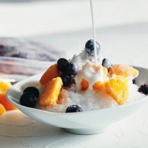 冷凍フルーツでかき氷!