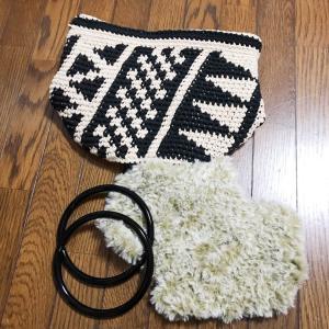 かぎ針編みの編み込みで!アフリカンバッグ