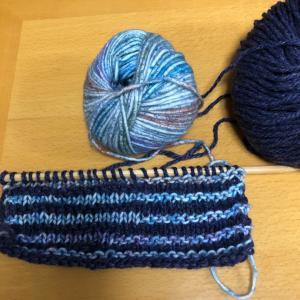 シャドー編みのマフラー!