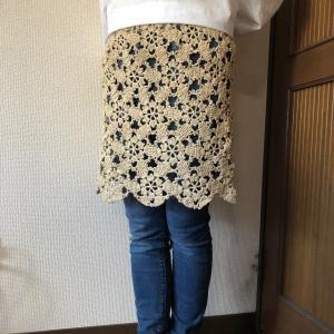 モチーフ編みでオーバースカート!