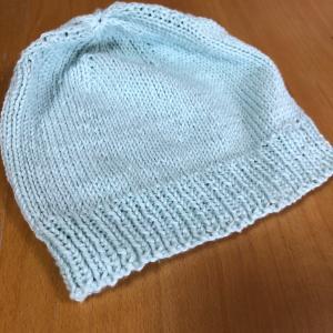 ベビーの棒針編みの帽子!