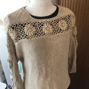 モチーフ編みのセーター完成♪