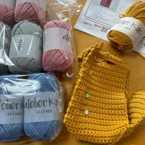 3玉⭐︎細編みで編むバッグ!