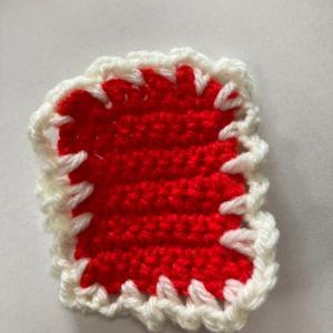 編み物はじめてのコースター!