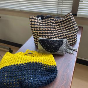 方眼編みのエコバッグ⭐︎他のバッグも京都新聞文化センター