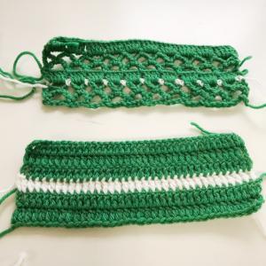 かぎ針編み 編み地の切断の仕方!