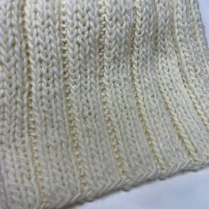 棒針編み⭐︎変わりゴム編みのマフラー!