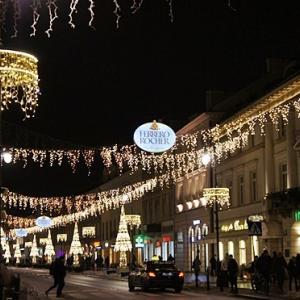 ワルシャワのクリスマスイルミネーション