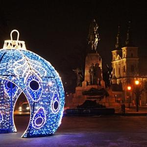 ポーランドの古都クラクフのクリスマス