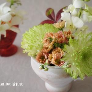 正月花のお色直し