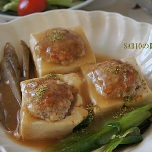 挽肉乗せ豆腐の煮込み