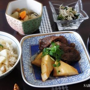 筍と牛肉の照り焼き・筍ご飯