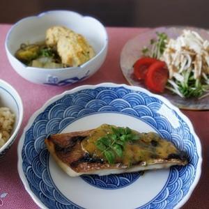 鯛の木の芽味噌焼き & 柏餅