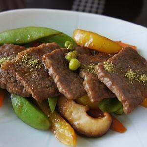 野菜多目の焼肉定食
