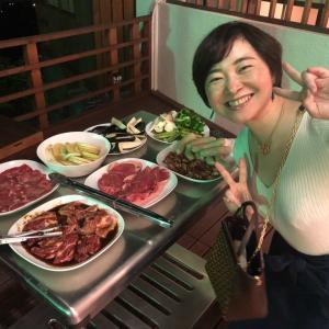 今日は、湯河原でバーベキュー♪お肉、美味しそう〜❤️❤️❤️