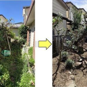 数年間手入れが出来ないでいるお庭の手入れ作業