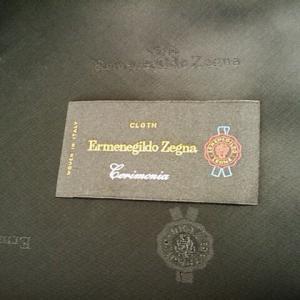 幻のErmenegildo Zegna(エルメネジルド・ゼニア)生地タグ「Cerimonia」