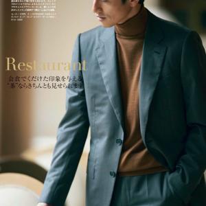 スーツ×タートルネックは冬コーデの定番/エルメネジルド・ゼニアのスタイルが参考になる