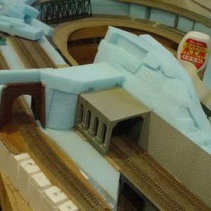 2021/07/09 左手前トンネルエリアの造成 9 サブテレインをカット