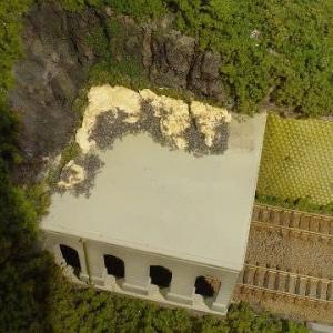 2021/09/17 左手前トンネルエリアの造成 17 落石覆いの屋上2
