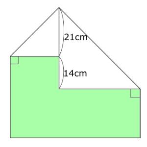 色部分の面積は、正方形の何倍?(広島学院中学  2018年)