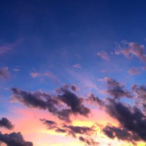 台風の後の空と怪奇現象