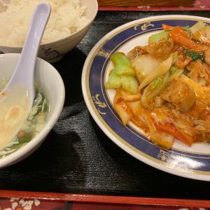 キムチと野菜炒め定食