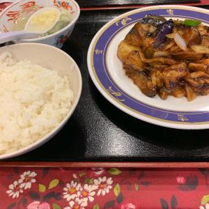 鶏肉とナスの甘味味噌炒め