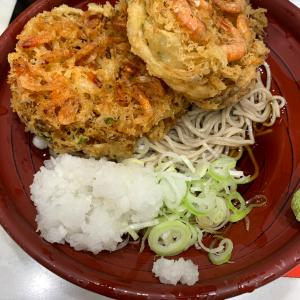 小田急新宿駅近くのかき揚げそばランチ