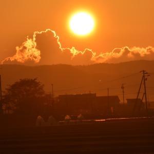 撮りたかった夕日
