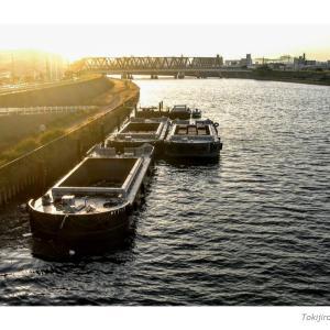 阪急千里線・下神崎川橋梁付近から