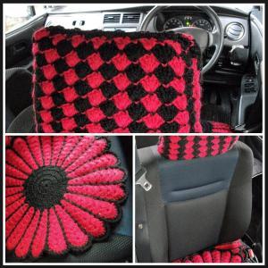 手編みヘッドカバー
