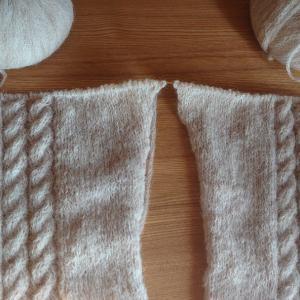 袖を2枚同時編みする理由