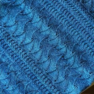 絹和紙で編むノースリーブプル・完成