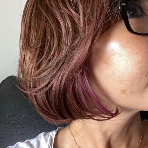 ピンクの頭w