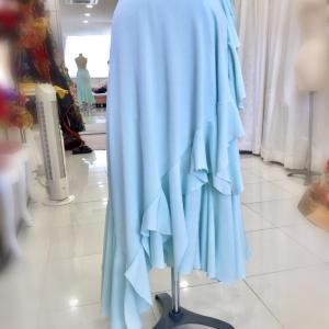 スカートがドレスに変身!?フリーサイズの不思議服を仮縫いで作ってみた