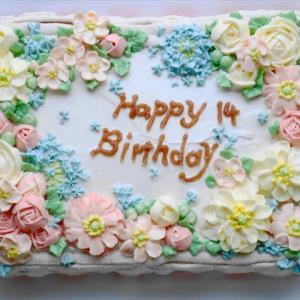ぴよ子✳14歳誕生日ケーキ✳制作過程画像付き