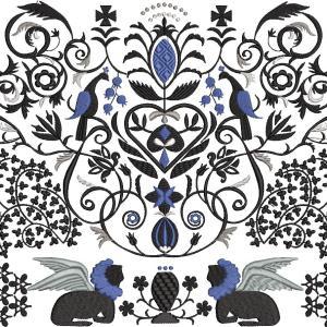 新作 『アカンサスと有翼獣』『揺れるクリスタル飾り』