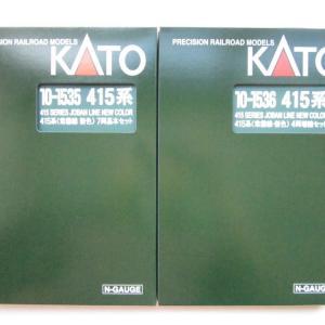 KATO 415系(常磐線・新色)セット 入線
