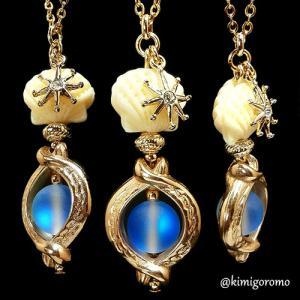 ルミナス・ブルーの小瓶ネックレス