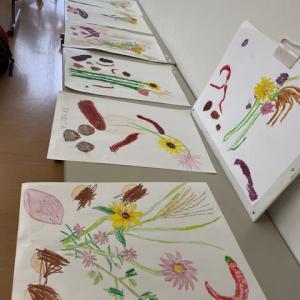 秋の絵画教室うさぎの芽♪