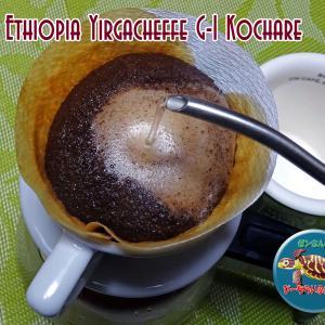 就寝前の、エチオピア イルガチェフ コチャレ ♪