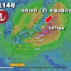 油断大敵「台風14号」!