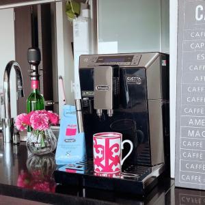 念願のデロンギコーヒーマシーンで朝からまったり