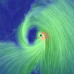 台風14号・・・・・
