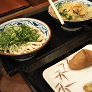 うどん夕食♪